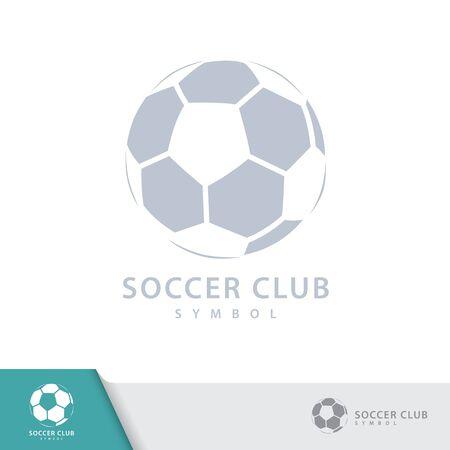 Soccer football logo, emblem symbol design templates. Vector illustration.