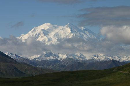 denali: Rare view of Mout McKinley.  Mountain also called Mount Denali Stock Photo