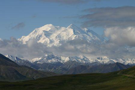 Rare view of Mout McKinley.  Mountain also called Mount Denali 版權商用圖片