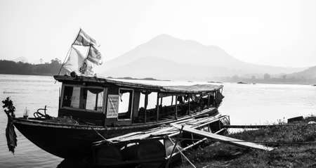 mekong river: lifestyle of people in  Mekong River
