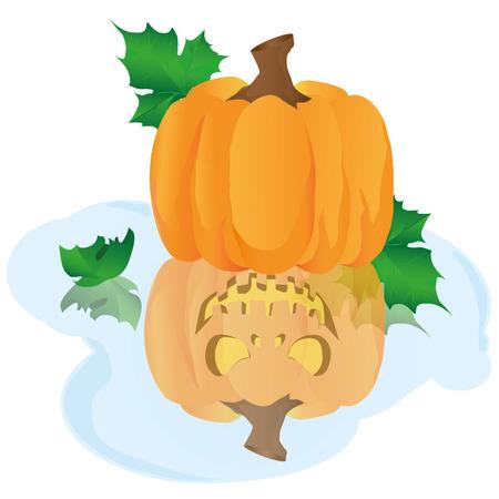 good and evil: Pumpkin good and evil Illustration