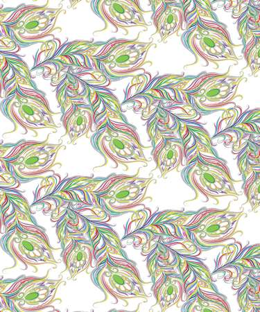 Feather multicolored pattern Stock Photo