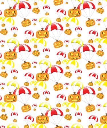 Halloween pumpkin parachute pattern
