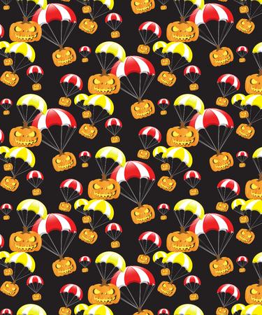 Halloween Pattern Black Background Stock Vector - 86312622