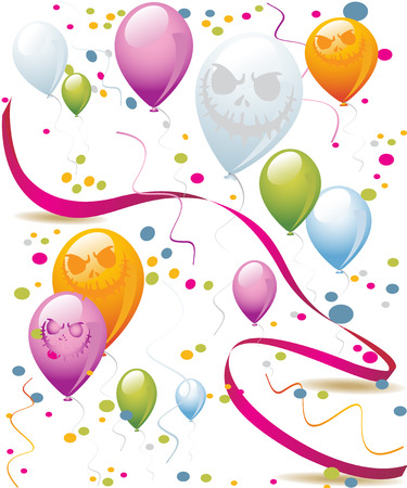 balloons with evil smiles holiday Stock Photo - 87149888