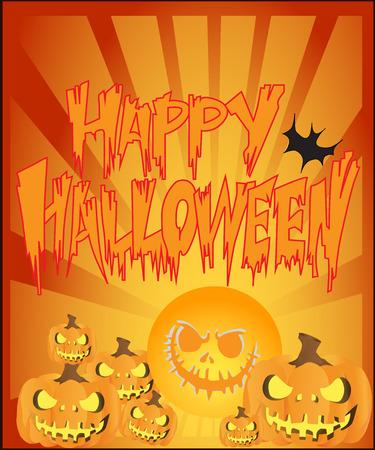 Happy Halloween Text Banner Illustration