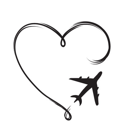 airplane of lovers Stock Vector - 86632999
