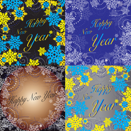 New Years pattern collage