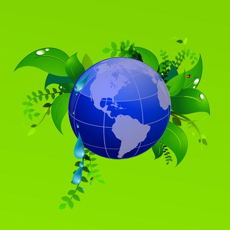 녹색 행성 에코 자연, 무당 벌레 스톡 콘텐츠 - 87519666