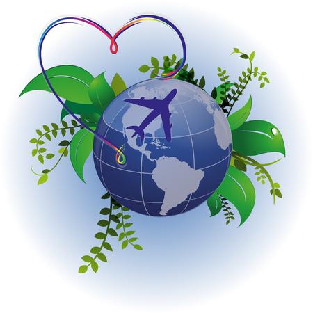 Airplane flight summer, flight, rest, around the world
