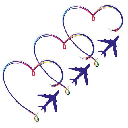 Airplane flight summer trip