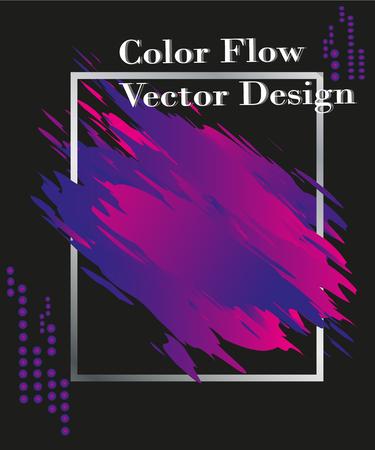 Color brushstroke oil or acrylic paint design element