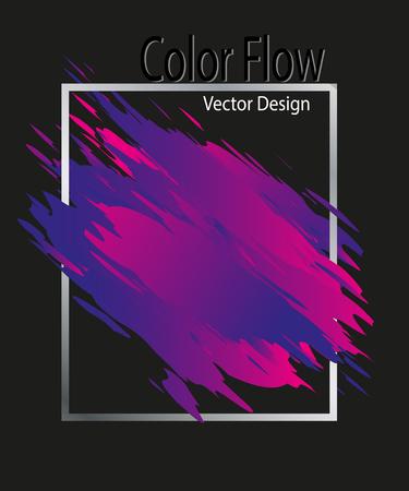 Color brushstroke oil or acrylic Stock Photo