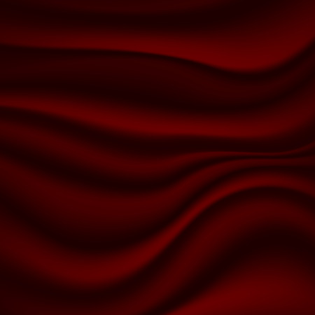 red background with painted waves. Marble texture.  illustration