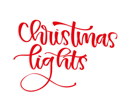 Merry Christmas, XMAS handwritten brushpen lettering, calligraphy with light background for logo, design concepts, badges, banners, labels, postcards, invitations, prints, posters.  illustration Stock Illustration - 115921536