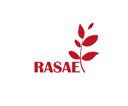Realistic organic logo Realistic organic logo with leaves.  illustration Stock Photo