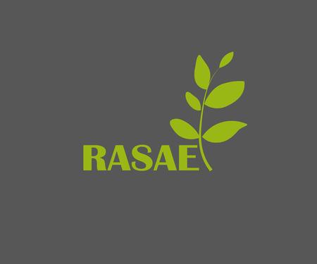 F letter eco logo, volume icon Realistic organic logo with leaves.  illustration Stock Illustration - 115921564
