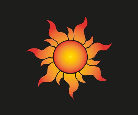 Sunflower vector icon Realistic organic sun logo. Vector illustration.