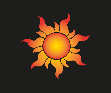 Sunflower vector icon Realistic organic sun logo. Vector illustration. Stock Vector - 115921574