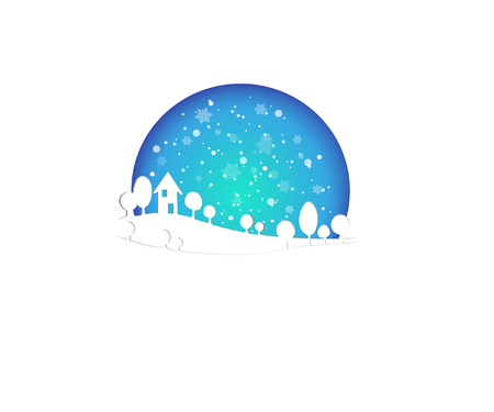Merry Christmas cover art. Happy new year background. Vector illustration Illustration