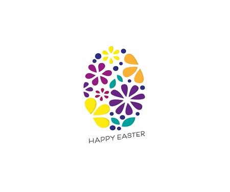 Happy Easter handwritten lettering.Happy Easter holiday day