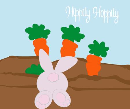 easter egg hunt template greeting vector illustration Stock Photo
