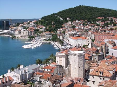 オールドタウンのスプリット クロアチア 写真素材