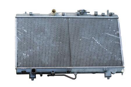 Old car radiators. Radiator, engine cooling. Blur, isolated on a white background.