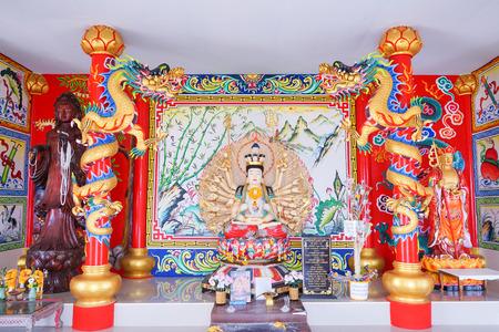 Guan Yin Statue at Wat Khun Samut Chin, Samut Prakarn, Thailand