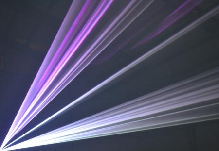 Purple laser beams