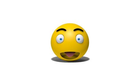 opened eye: emotional smiley front view Stock Photo