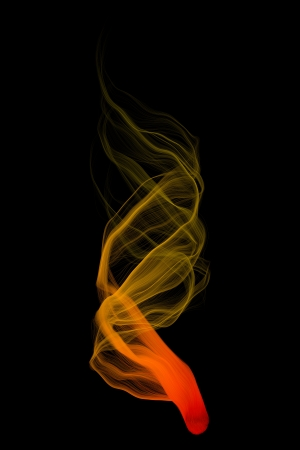 sectoral: magic lines,basic flame form Stock Photo