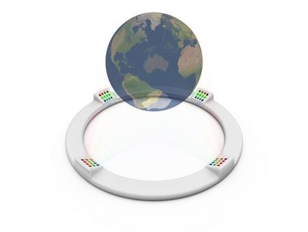 ホログラムの世界 写真素材