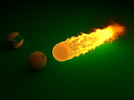 powerfull billiard ball Foto de archivo