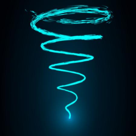 sacred source: magic swirl vector Illustration