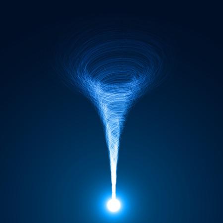magic tornado vector Vectores