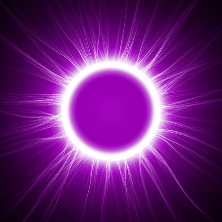swarm: violet energy ring vector Illustration