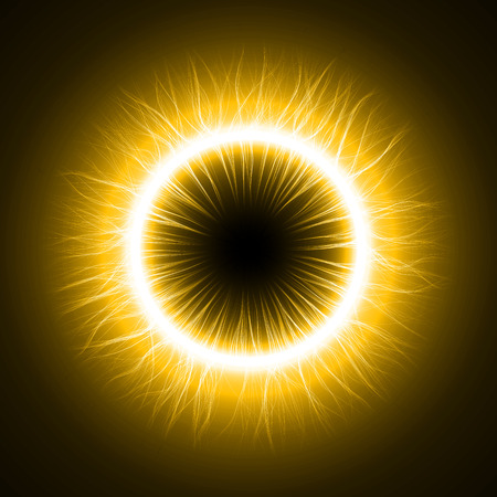devils eye (inner simple,outer turbulenced lines version) Vector