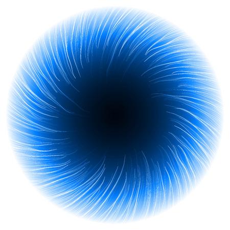 powerfully: dark portal abstract.(shor turbulenced lines version) Illustration