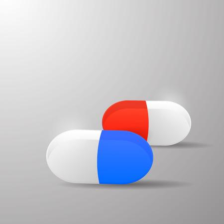 basic: basic pill capsule design Illustration