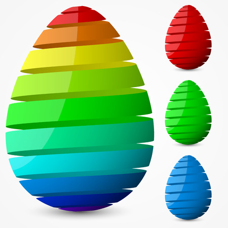 rotational: easter egg design.(ribbon style.narrow spaced version) Illustration