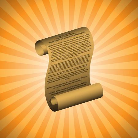 amendment: La primera enmienda sobre fondo naranja (con texto legible) Vectores