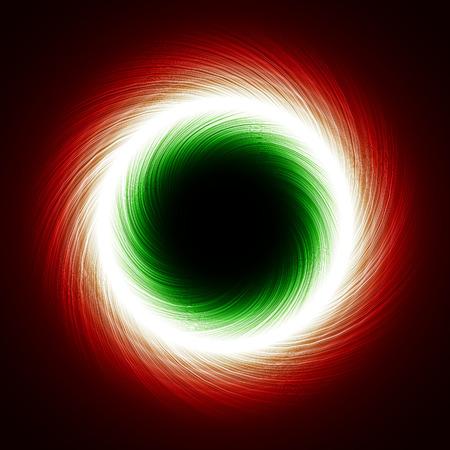rotating dark portal abstract.(short lines,one way version) Vector