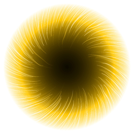 sacred source: dark portal abstract.(shor turbulenced lines version) Illustration