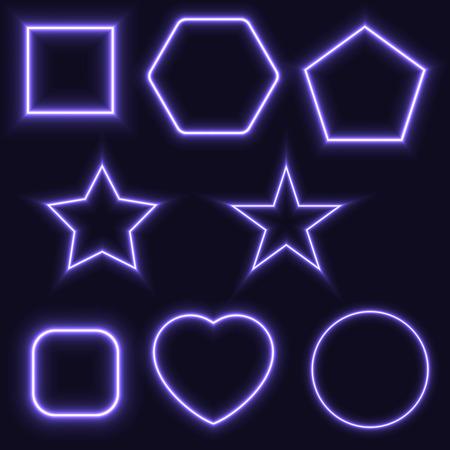 basic shapes: basic shapes with glowing effect.
