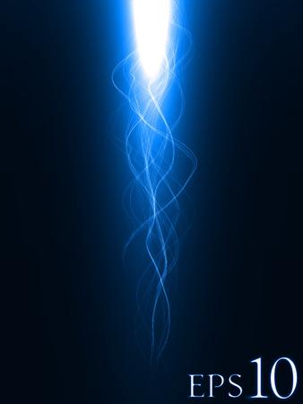 b�n�diction: la b�n�diction bleu (bleu version de couleur, de longues queues)