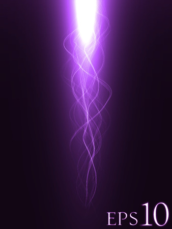 blessing: blessing effect with energy waves ( violet colored, long waves version)