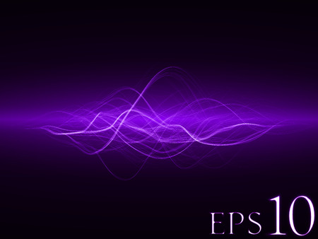 sacred source: smooth energy waves ( violet colored, wide waves version)