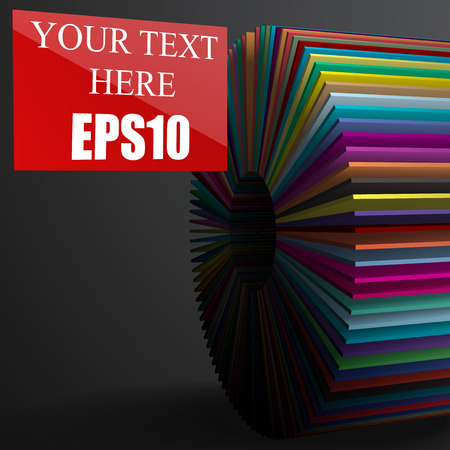 color selection: selected option,3d infographic blank