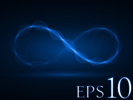 sacred source: energy waves loop (blue colored,short waves version)